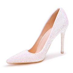 Shoespie Trendy Stiletto Heel Pointed Toe Rhinestone Wedding Thin Shoes