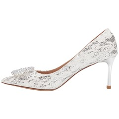 Shoespie Sexy Slip-On Rhinestone Pointed Toe 9cm Thin Shoes