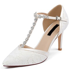 Shoespie Sexy Pointed Toe Buckle T-Shaped Buckle Plain Thin Shoes