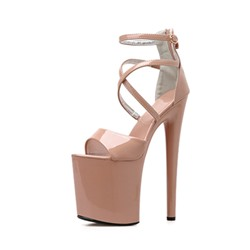 Shoespie Sexy Stiletto Heel Heel Covering Peep Toe Plain Sandals
