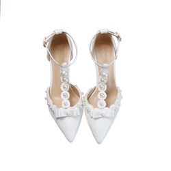 Shoespie Sexy Pointed Toe Buckle T-Shaped Buckle Wedding Thin Shoes