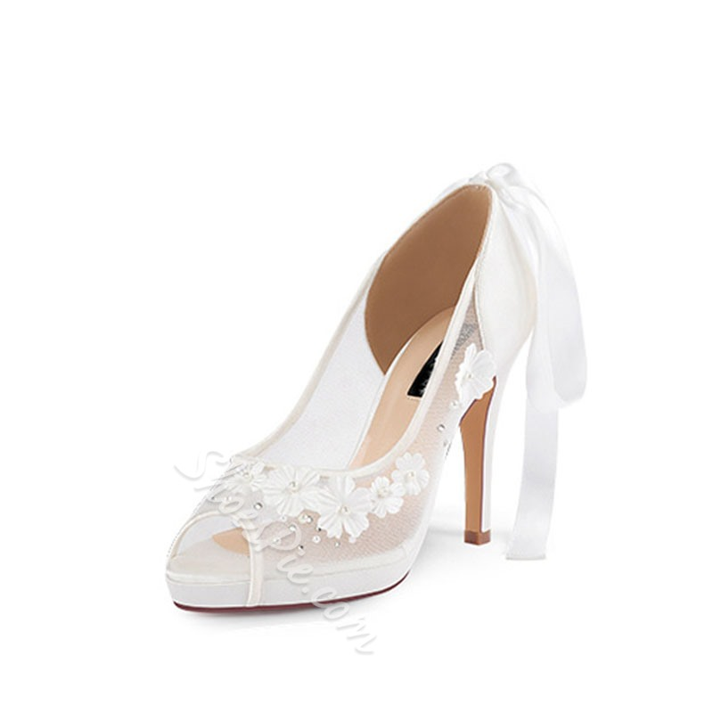 Shoespie Sexy Appliques Peep Toe Slip-On Sweet Thin Shoes