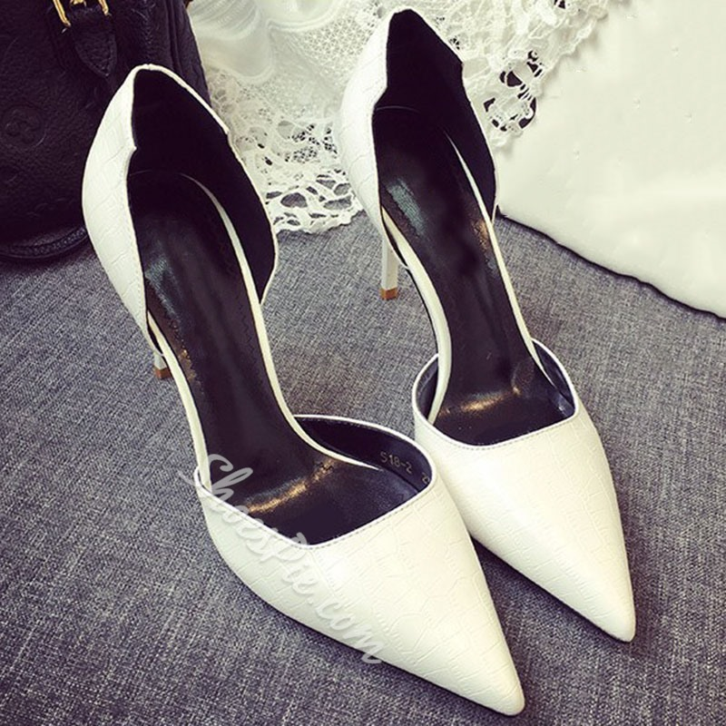 Shoespie Sexy Pointed Toe Slip-On Thread 9cm Thin Shoes