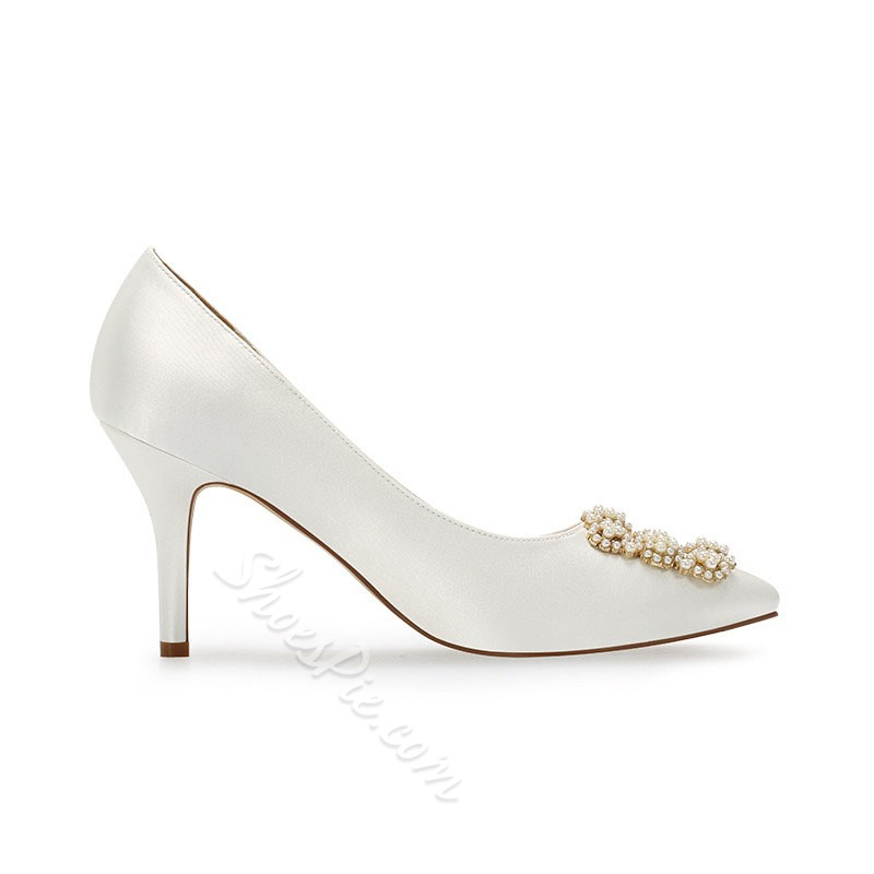 Shoespie Trendy Pointed Toe Thread Stiletto Heel Sweet Thin Shoes
