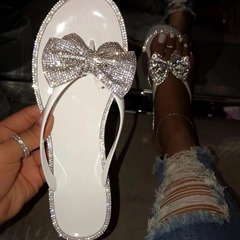 Shoespie Sexy Thong Flat With Slip-On PVC Slippers