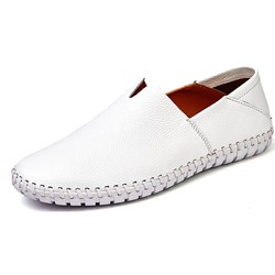 Shoespie Low-Cut Upper Plain Slip-On Round Toe Lofers