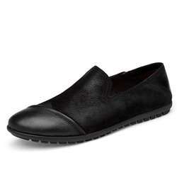 Shoespie Men's Plain Slip-On Low-Cut Upper Thin Shoes