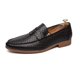 Shoespie Men's Slip-On Low-Cut Upper Plain Round Toe Oxfords