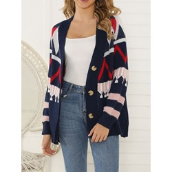 Single-Breasted Regular Regular Mid-Length Women's Sweater