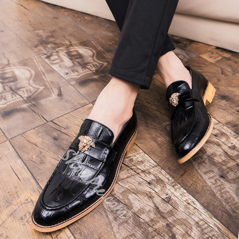 Shoespie Men's Low-Cut Upper Round Toe Leather Oxfords