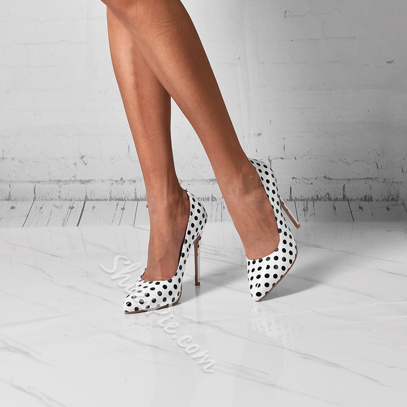Shoespie Trendy Pointed Toe Slip-On Ultra-High Heel(≥8cm) Thin Shoes