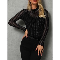 Casual Slim Long Sleeve Pullover Women's Blouse