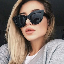 Fashion Cat Eye Resin Sunglasses