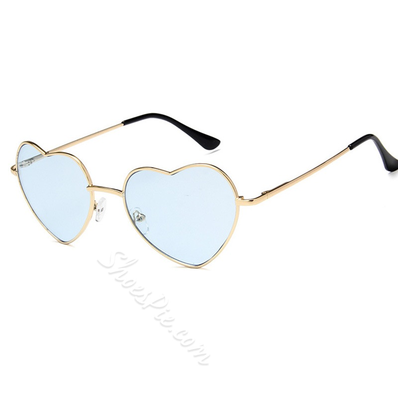 Resin Wrap Heart Shape Fashion Sunglasses