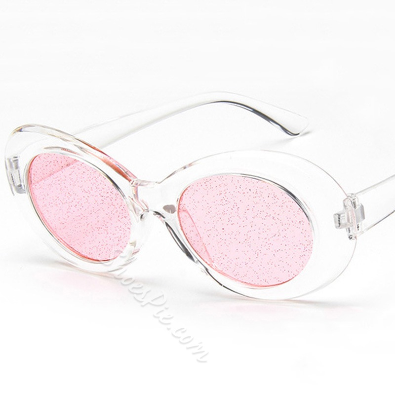 Resin Fashion Oval Fashion Sunglasses