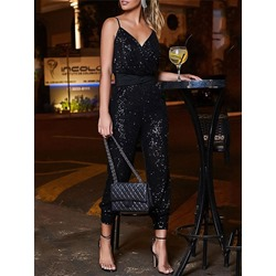 Plain Ankle Length Party/Cocktail Slim Women's Jumpsuit