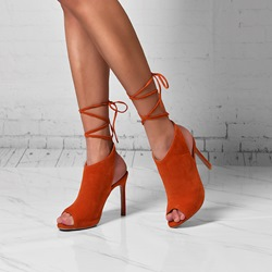 Shoespie Sexy Lace-Up Peep Toe Sandals