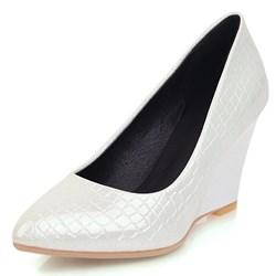 Shoespie Sexy Pointed Toe Wedge Heel Slip-On 8cm Thin Shoes