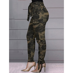 Camouflage Slim Pencil Pants Women's Casual Pants
