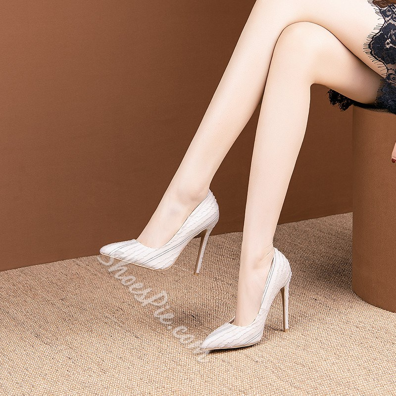 Shoespie Stylish Pointed Toe Stiletto Heel Slip-On Thin Shoes