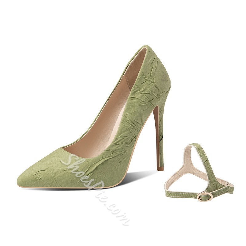Shoespie Trendy Slip-On Stiletto Heel Pointed Toe Plain Thin Shoes