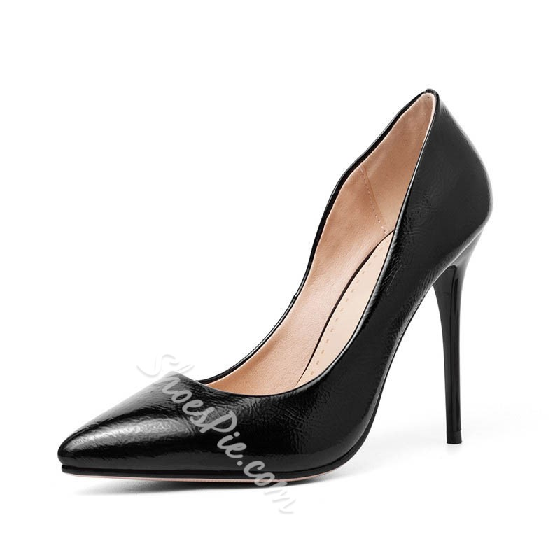 Shoespie Trendy Stiletto Heel Pointed Toe Slip-On 11cm Thin Shoes