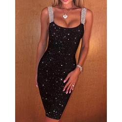 Sequins Above Knee Sleeveless Sexy Women's Dress