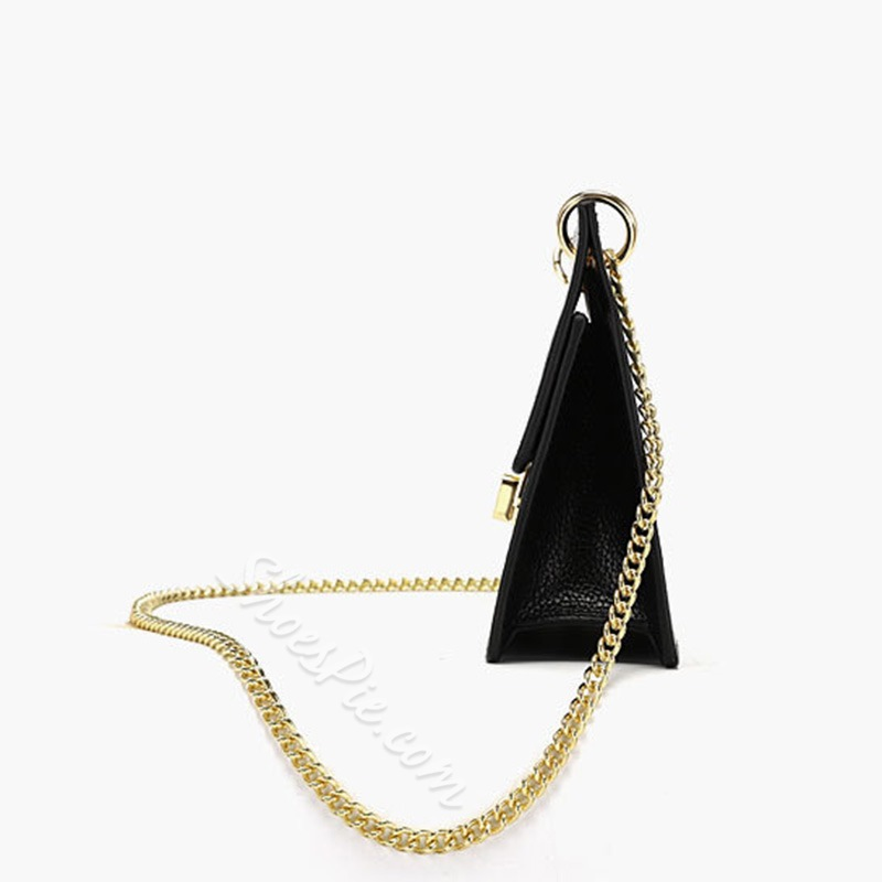 Shoespie Lock PU Rectangle Crossbody Bags