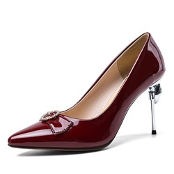 Shoespie Trendy Stiletto Heel Slip-On Thread Banquet Thin Shoes