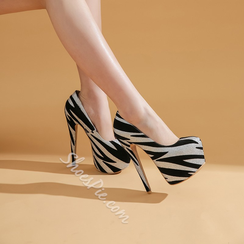 Shoespie Stylish Buckle Pointed Toe Platform 16cm Thin Shoes