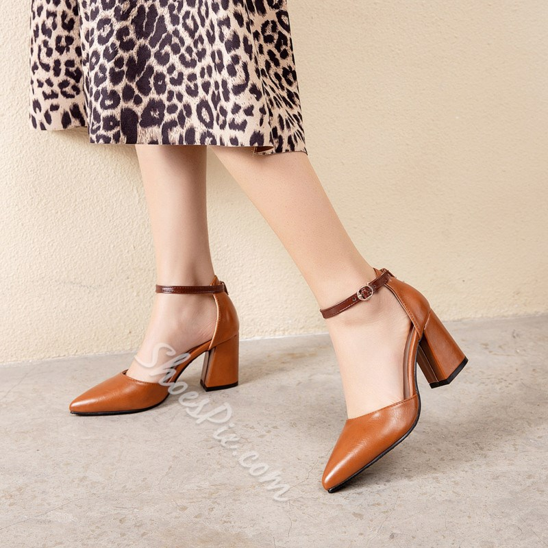 Shoespie Stylish Thread Pointed Toe Line-Style Buckle Casual Thin Shoes
