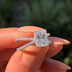 Romantic Diamante Prom Rings