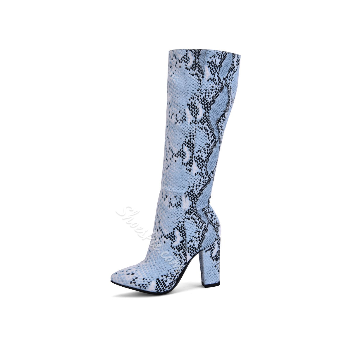 Shoespie Trendy Side Zipper Pointed Toe Knee High Boots