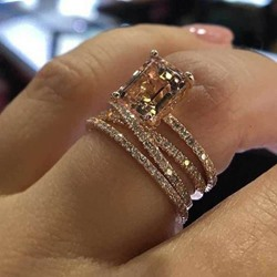 Diamante Romantic Birthday Rings