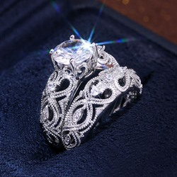 Diamante Romantic Prom Rings