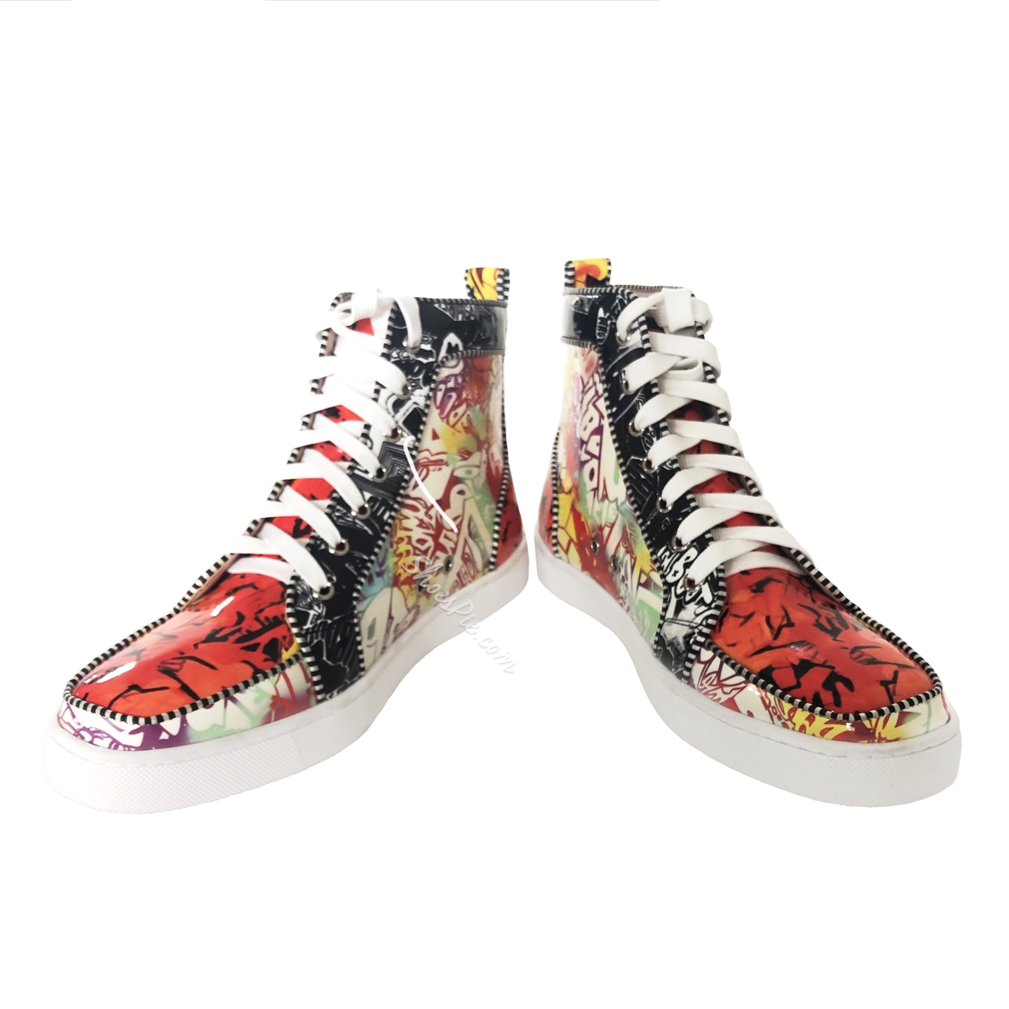 Shoespie Flat High Cut Upper Lace-Up Round Toe Men's Sneakers