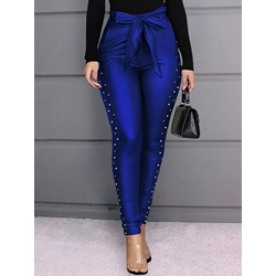 Blue Rivet Slim Pencil Pants Women's Casual Pants