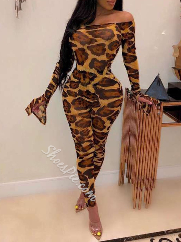 Leopard Stylish Sexy Bodycon Women's Jumpsuit