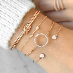 Diamante Sweet Female Bracelets Sets