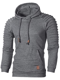 Plain Standard Hooded Casual Slim Sweater