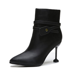 Shoespie Sexy Side Zipper Pointed Toe Zipper Boots