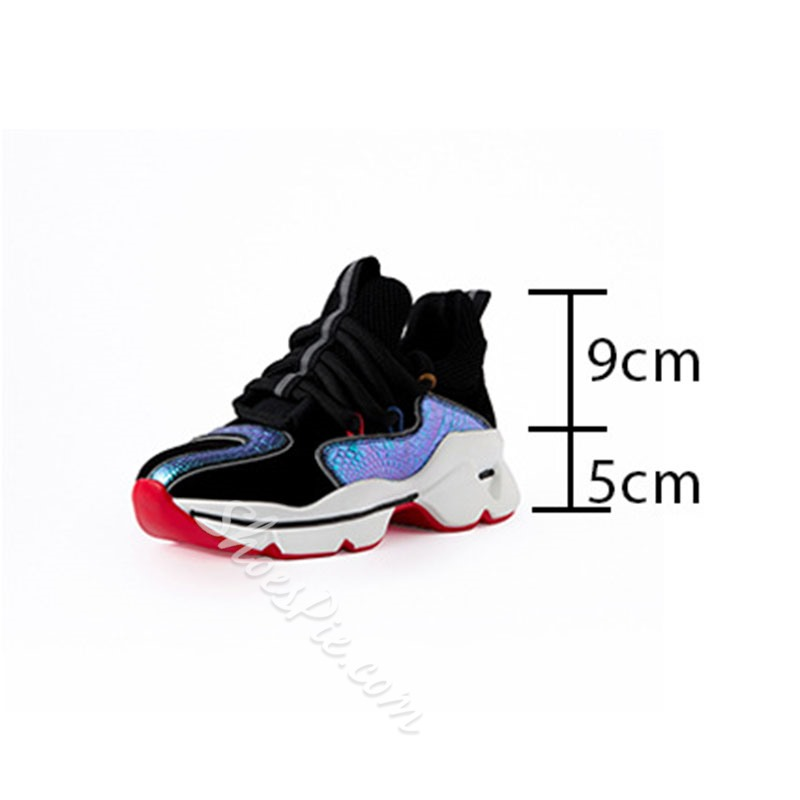 Shoespie Trendy Lace-Up Round Toe Cross Strap Leather Sneakers