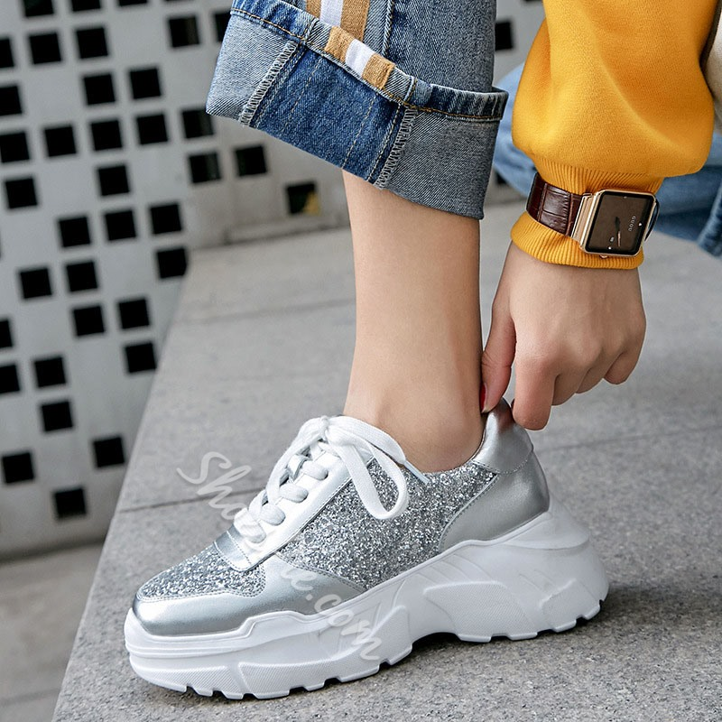 Shoespie Sexy Lace-Up Low-Cut Upper Round Toe Leather Sneakers
