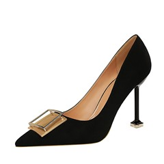 Shoespie Trendy Sequin Pointed Toe Slip-On Low-Cut Upper Thin Shoes