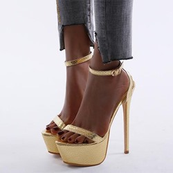 Shoespie Stylish Buckle Open Toe Ankle Strap Western Sandals