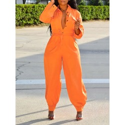 Shoespie Orange Western Knickerbockers Women's Jumpsuit