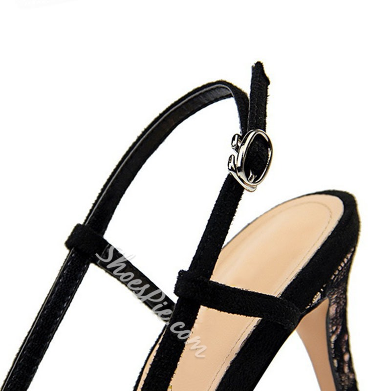 Shoespie Sexy Buckle Pointed Toe Stiletto Heel Color Block Sandals
