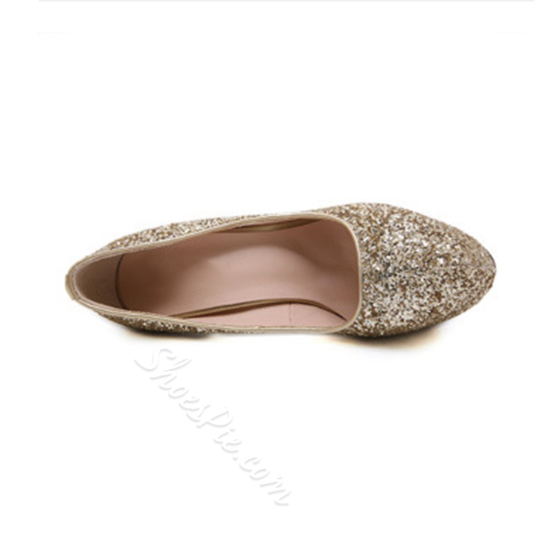 Shoespie Sexy Slip-On Platform Round Toe Low-Cut Upper Thin Shoes