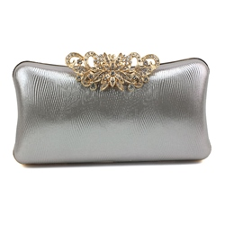 Shoespie Rhinestone Rectangle Buckle Versatile Evening Bags