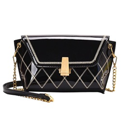 Shoespie Chain Plaid PU Rectangle Crossbody Bags